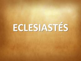 ECLESIASTÉS