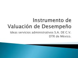 Instrumento de Valuación de Desempeño