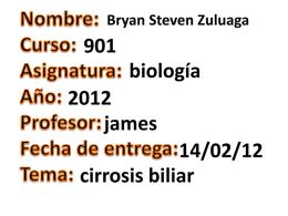 cirrosis biliar primaria