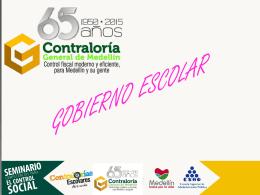 Presentación seminario CGM Gbno Escolar