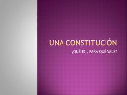 Una constitución