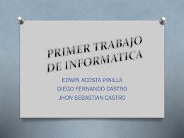 PRIMER TRABAJO DE INFORMATICA