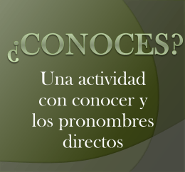 ¿Conoces? Sí o no