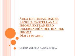 ÁREA DE HUMANIDADES, LENGUA