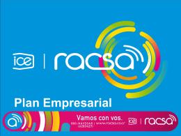 Plan Empresarial (RACSA)