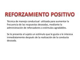 Reforzamiento Positivo OSP