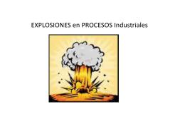 EXPLOSIONES en PROCESOS Industriales