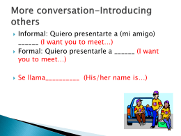 More conversation-Introducing others