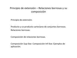 Principio de extensión * Relaciones borrosas y su composición