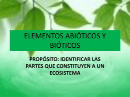 elementos abioticos