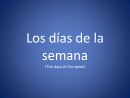Los días de la semana (The days of the week) - HAST