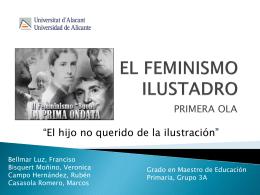 01.- EL FEMENISMO ILUSTRADO PRIMERA OLA