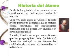 Historia del átomo - Apuntesdeciencias