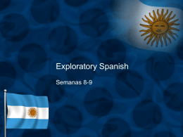 Exploratory Spanish