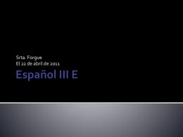 Español III E