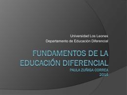 Fundamentos de la educación diferencial 2013