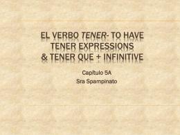 El Verbo Tener- to have