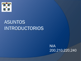 Liniamientos Introductorios de Una Auditoria