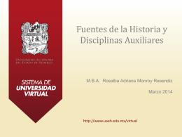 Fuentes de la historia y disciplinas auxiliares