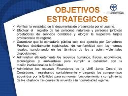 6 objetivos estratégicos - Junta Central de Contadores