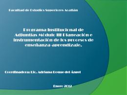 File - Diseño y Evaluación Curricular/FES Acatlán