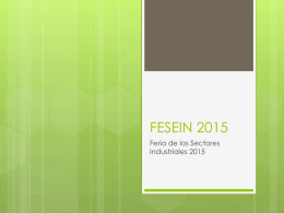 FESEIN 2015 - WordPress.com