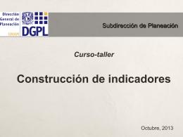 Curso de construccion de indicadores
