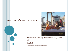 Antonia*s vacations