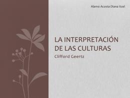 La interpretación de las culturas
