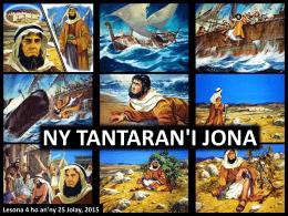 NY FIANTSOANA HO TONGA MPIANATRA