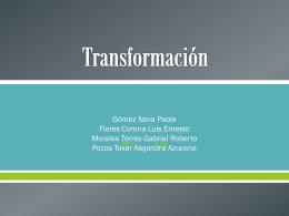 transformación - Bioquimexperimental