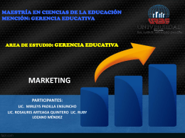 MARKETING DIAPOSITIVAS - educación y tecnologías xxi