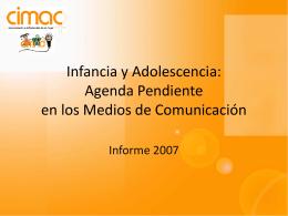 Infancia y Adolescencia: Agenda Pendiente en los