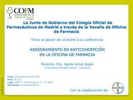 Descargar el fichero - Colegio Oficial de Farmacéuticos de Madrid