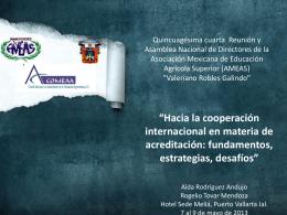 Hacia la cooperación internacional en materia de acreditación