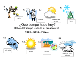 ML 428- Weather Activites Vocabulary