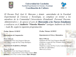 Diapositiva 1 - FACyT - Universidad de Carabobo