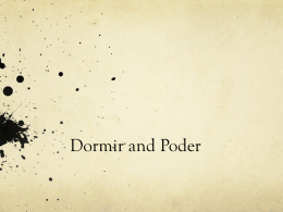 Dormir and Poder