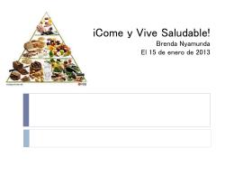 iCome y Vive Saludable!
