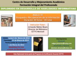 Diplomado de Desarrollo de Habilidades Informativas Módulo IV