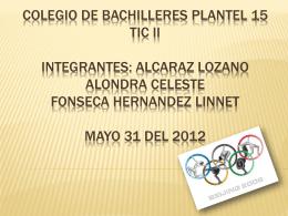 Colegio de bachilleres plantel 15 tic ii integrantes