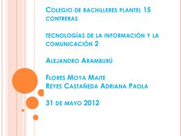 Colegio de bachilleres plantel 15 contreras tecnologías de la