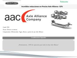 Increíbles reducciones en Precios Axle Alliance -52%