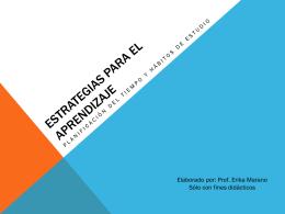 ESTRATEGIAS PARA EL APRENDIZAJE