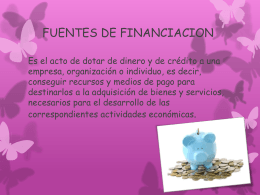 FUENTES DE FINANCIACION no