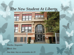 The New Student At Liberty