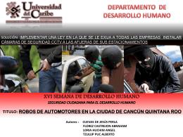 XVI SEMANA DE DESARROLLO HUMANO SEGURIDAD