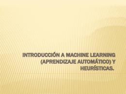 Machine Learning y Heurísticas