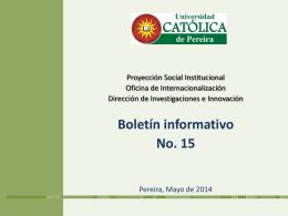 boletin_15_convocato.. - Universidad Católica de Pereira