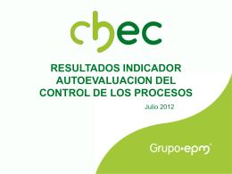 Autoevaluación del control 2012
